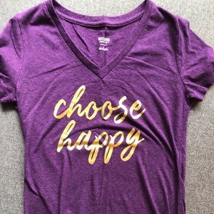 """Choose Happy"" tee- mossimo size medium"